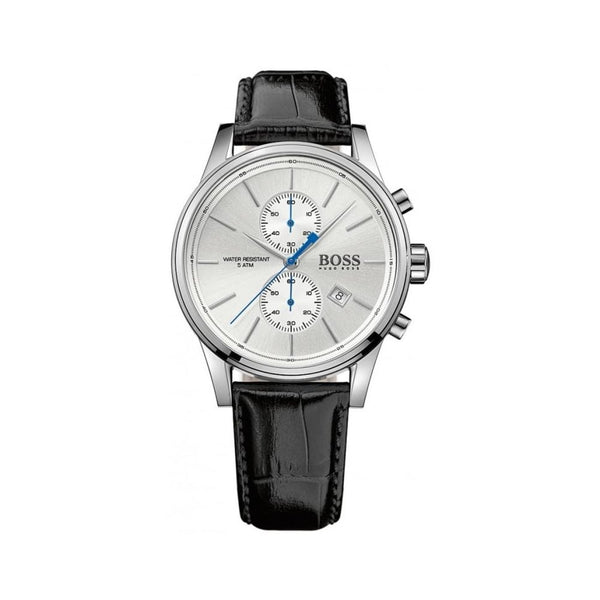 Hugo Boss Mens Black-Silver Jet Leather Watch - HB1513282