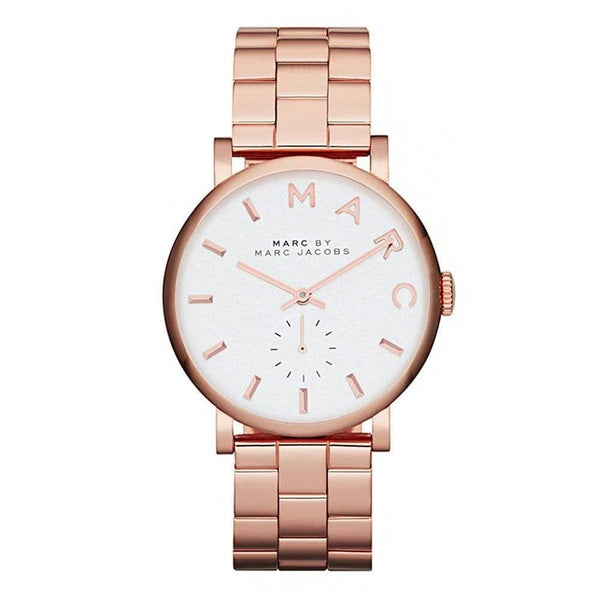 Marc Jacobs Ladies  Rose Gold  Stainless Steel Baker Watch - MBM3244
