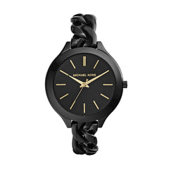Michael Kors Ladies Black Safari Slim Runway Watch - MK3317