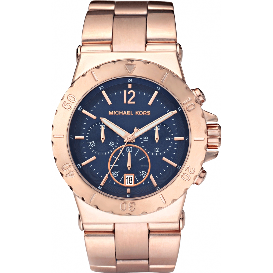 Michael Kors Ladies Rose Gold Chronograph Watch Dylan - MK5410
