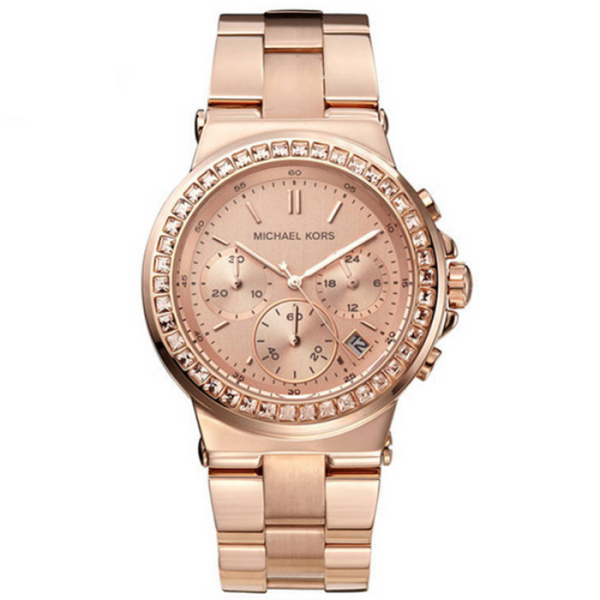 Michael Kors Ladies Rose Gold Dylan Watch - MK5586