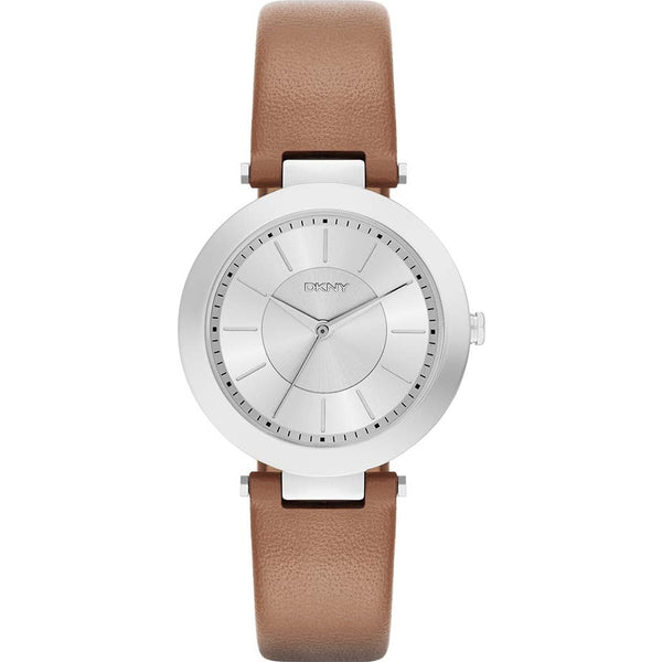 DKNY Ladies Matte Tan Stanhope 2.0 Leather Strap Watch - NY2293