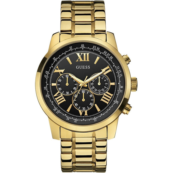Guess Mens Gold Horizon Chronograph Watch - W0379G4