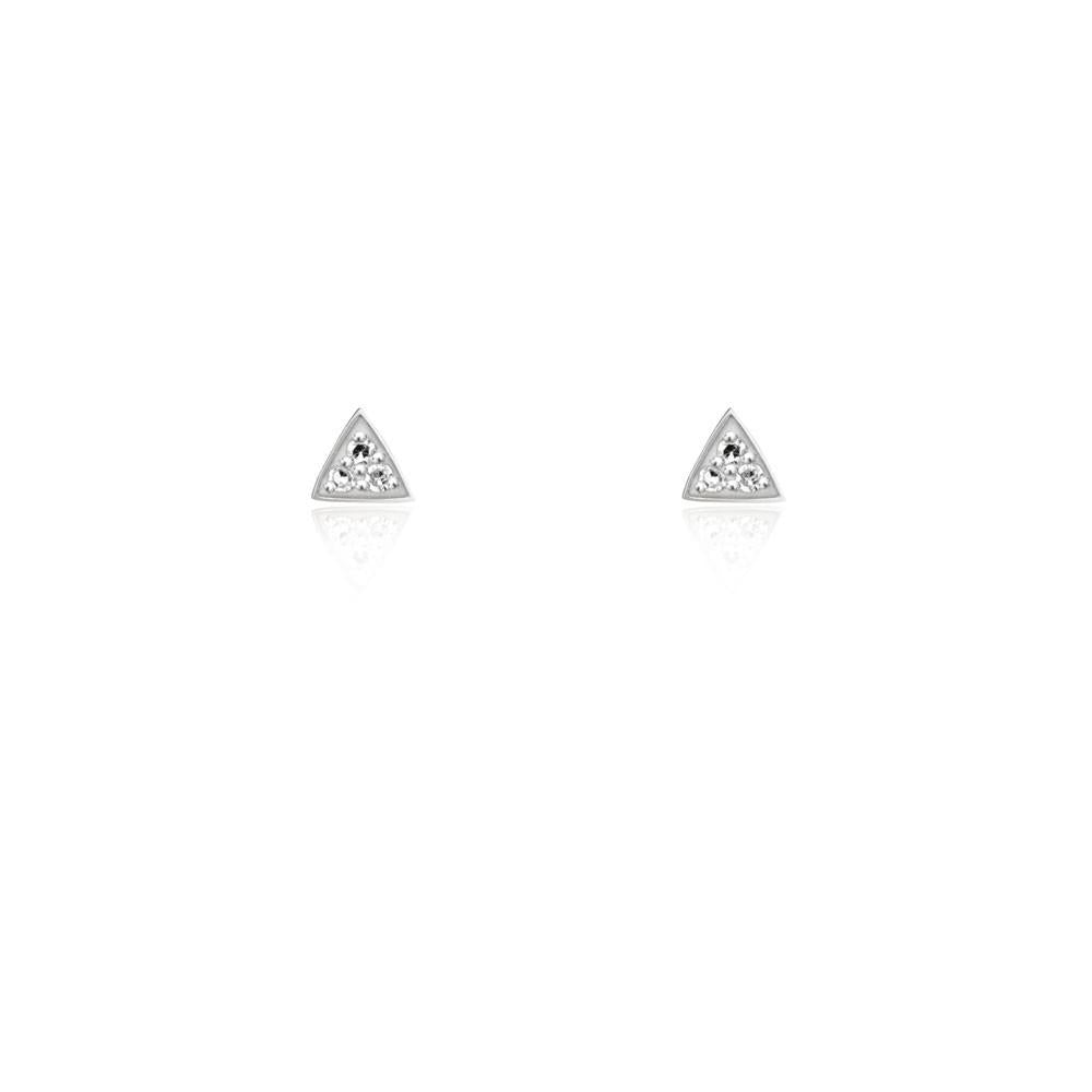 3aeccf4f Diamond Triangle Stud Earrings