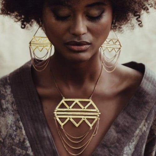 Jewellery set,boho jewellery, bohemian jewelry, tribal jewellery, african jewellery, statement jewellery, gemstone jewellery Saajie