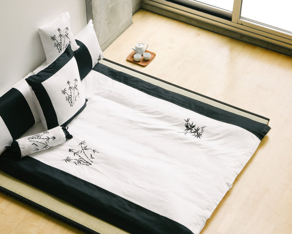 Zen Garden White Duvet Cover Set