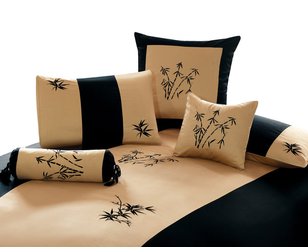 Zen Garden Gold Duvet Cover Set