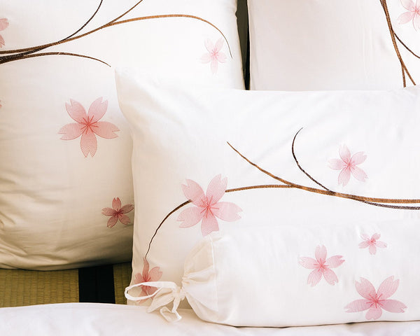Sakura White Standard Pillow Shams