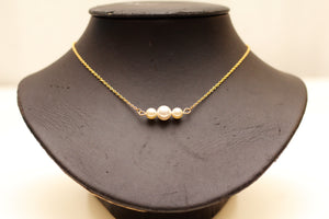 Inga Pearl Charm Necklace