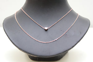 Larissa Double Chain Necklace in Rose Gold