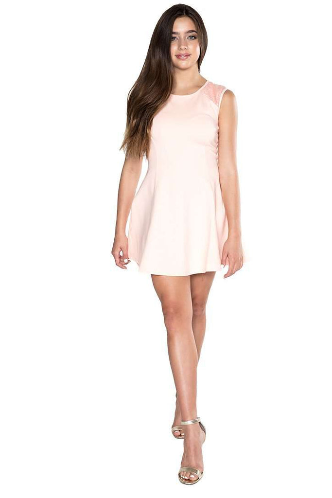 14fc9500ca1 ... Patricia Fit   Flair Sequin Shoulder - Dress - Teen Girls Clothing  fashion - Miss Behave ...