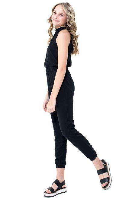 Jaime High Neck Key Hole Jumpsuits - Jumpsuit - Teen Girls Clothing fashion - Miss Behave Girls
