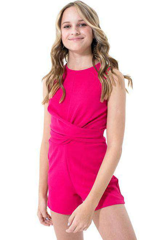 REMI Row A Twist Romper - Romper - Teen Girls Clothing fashion - Miss Behave Girls