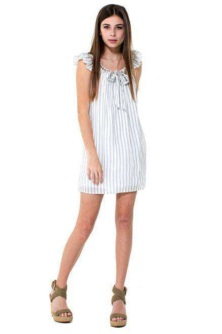 THERESA Shimmer Stripe Rib Band 2 Piece Set