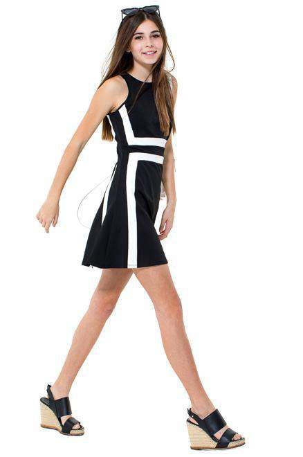 CLAIRE Color Block Sheath Skater Dress - Dress - Teen Girls Clothing fashion - Miss Behave Girls