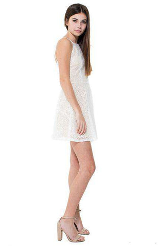 Harper Cut Out Lurex Jacquard Dress