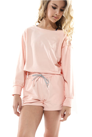 Ashley Brushed Fleece Slouch Shorts