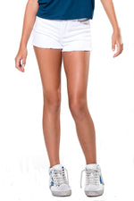 Distressed Jean Shorts White