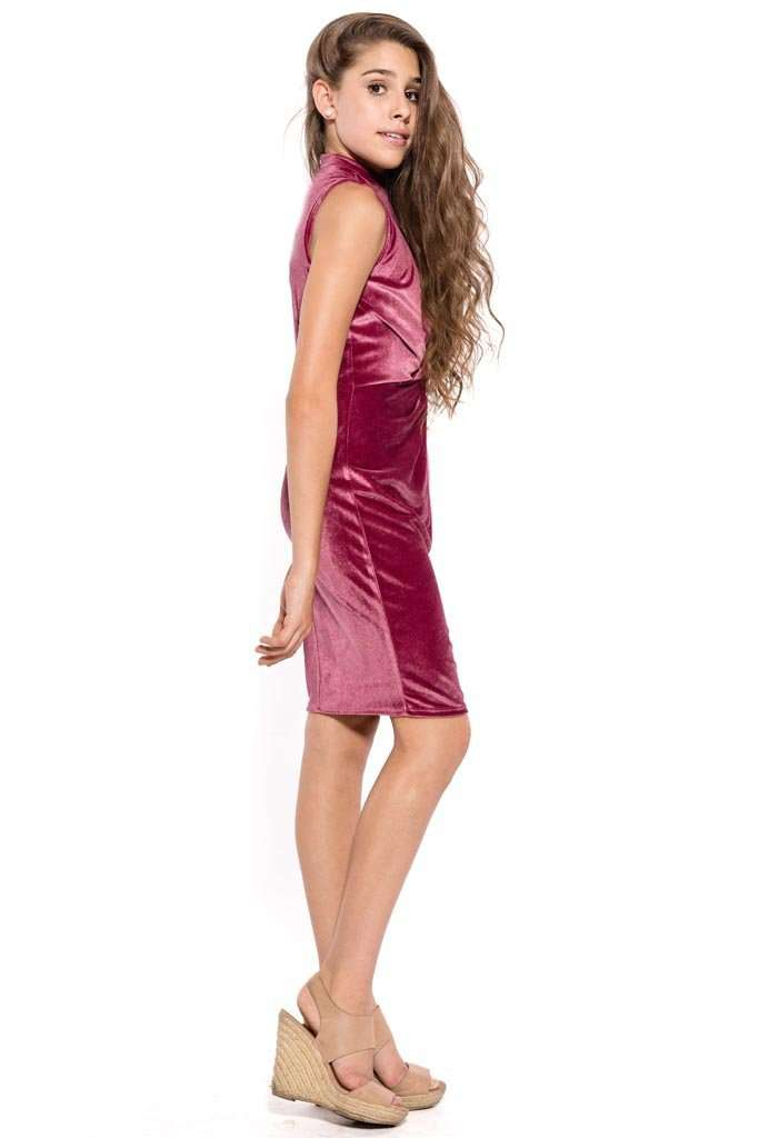 Tiffany Knot Front Fitted Dress