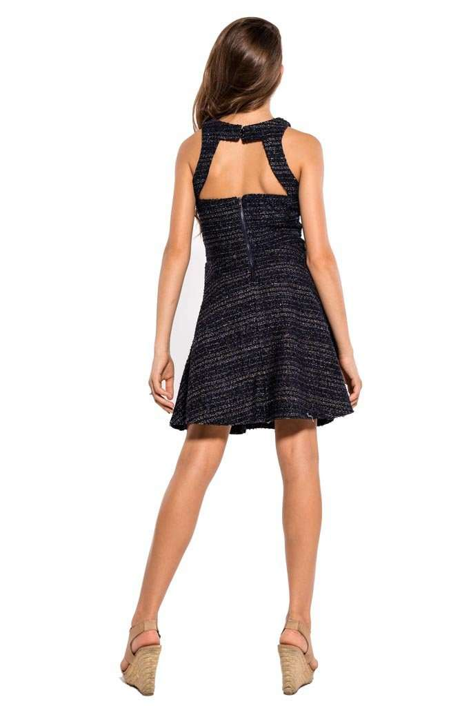 Heather Speckled Tweed Dress - Dresses - Teen Girls Clothing fashion - Miss Behave Girls
