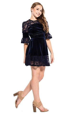 Kathleen Cold Shoulder Embroidery Dress
