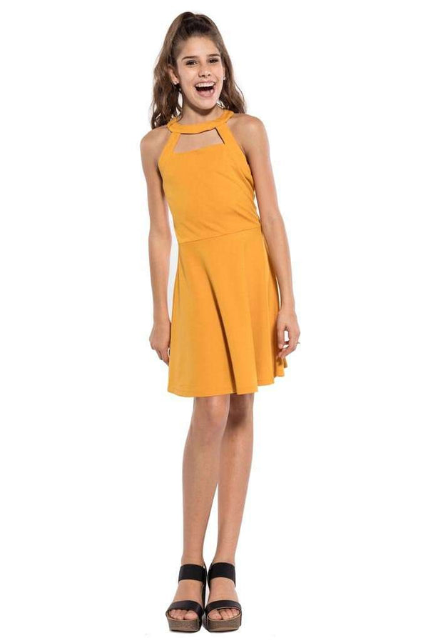 Harper Cut Out Dress - Dresses - Teen Girls Clothing fashion - Miss Behave Girls
