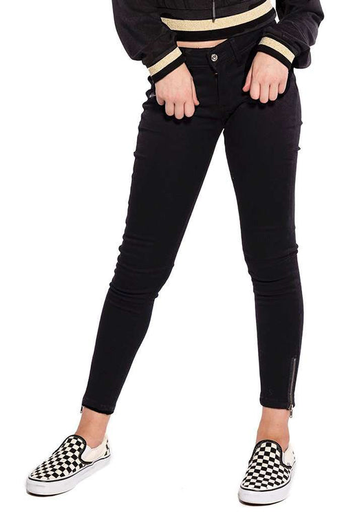 Ankle Zipper Pockets Skinny Jeans - Jeans - Teen Girls Clothing fashion - Miss Behave Girls