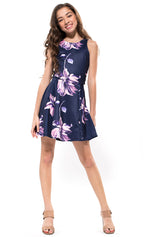 JESSICA Cut Out Back Floral Dress