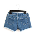 Stretch Cut Off Jean Shorts Medium Indigo