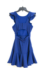 DAYLYN Open Back Fit & Flair Ruffle  Dress
