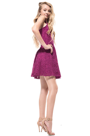 DANIELLA 3D Lace Pleated Dress