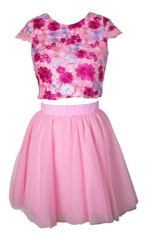 Brooke Pink Floral - Dress - Teen Girls Clothing fashion - Miss Behave Girls
