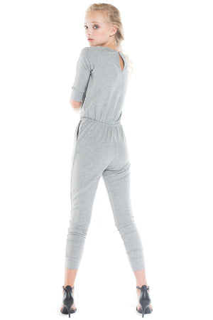 JESSIE French Terry  3/4 Sleeve Jumpsuit