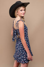 PAISLEY Ditsy Print Tie Back Dress