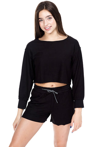 Donna Twisted Cropped Top