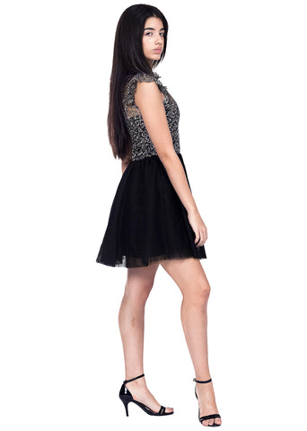Reggie Ruffle Shine Dress