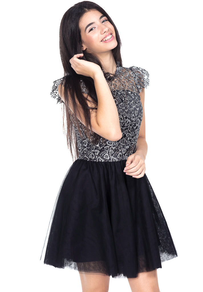 Rocky Lace Sequin Tulle Dress