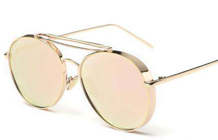 Metal Frame  Gold Pilot Sunglasses - Sunglasses - Teen Girls Clothing fashion - Miss Behave Girls