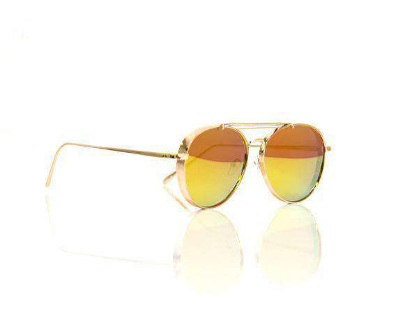 Metal Frame  Gold Pilot Sunglasses