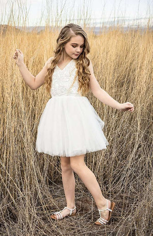 Zia Sequin Haltered Tulle Cocktail Dress - Dress - Teen Girls Clothing fashion - Miss Behave Girls