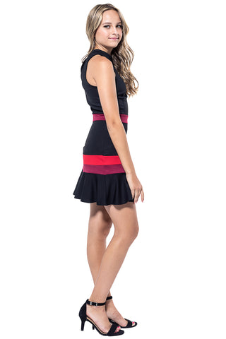 HARRIET Color Block Fit & Flare Dress