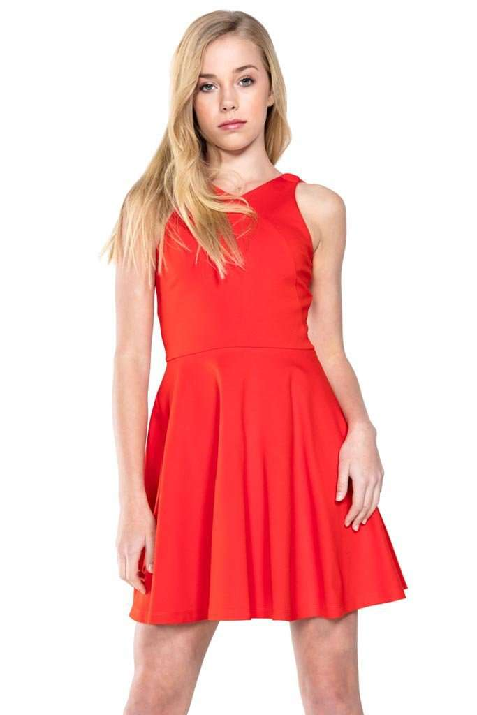 Sharon Strappy Criss Cross Skater Dress - Dress - Teen Girls Clothing fashion - Miss Behave Girls