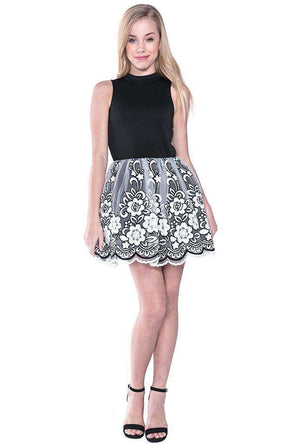 Grace Flower Crochet Dress - Dress - Teen Girls Clothing fashion - Miss Behave Girls