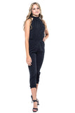 Jaime Sparkle High Neck Key Hole Jumpsuits