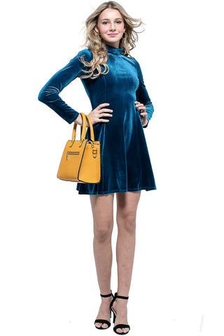 BRANDY Metal Eyelet Faux Suede Dress