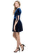 CHELSEA Tie Cuff Sleeves Velvet Dress