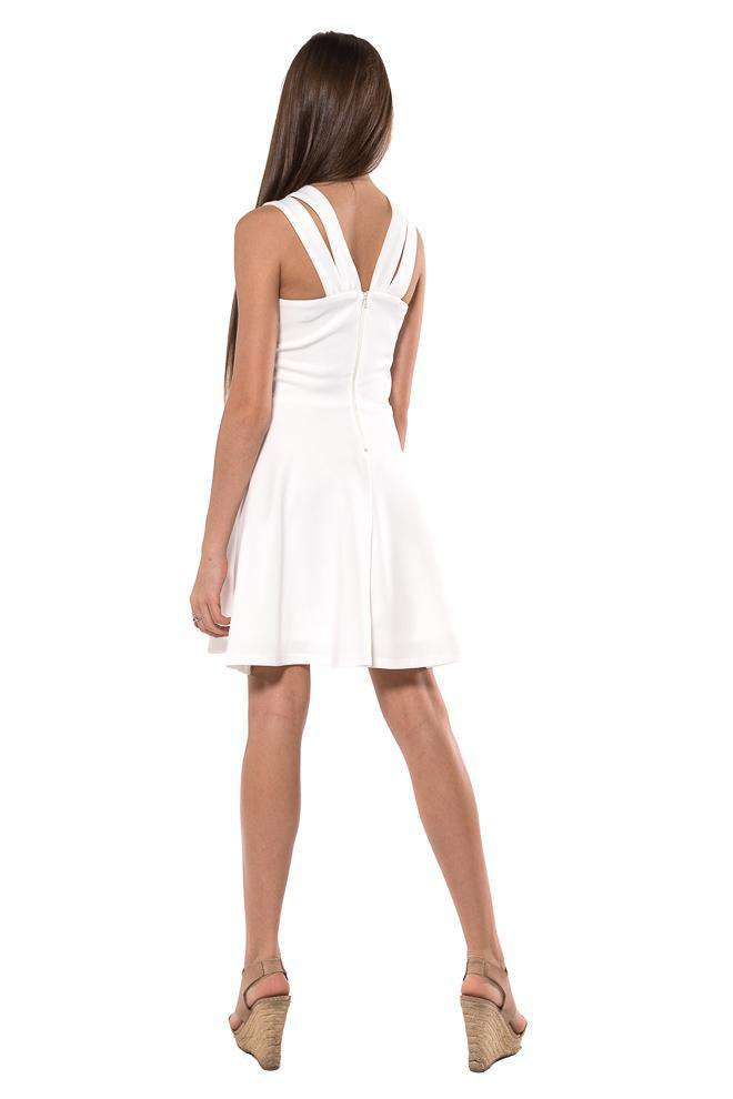 Nancy Thick Double Straps Fit & flare Dress