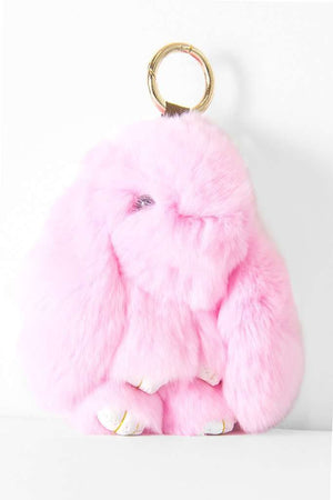 Furry Little Bunnies Keychains -  - Teen Girls Clothing fashion - Miss Behave Girls