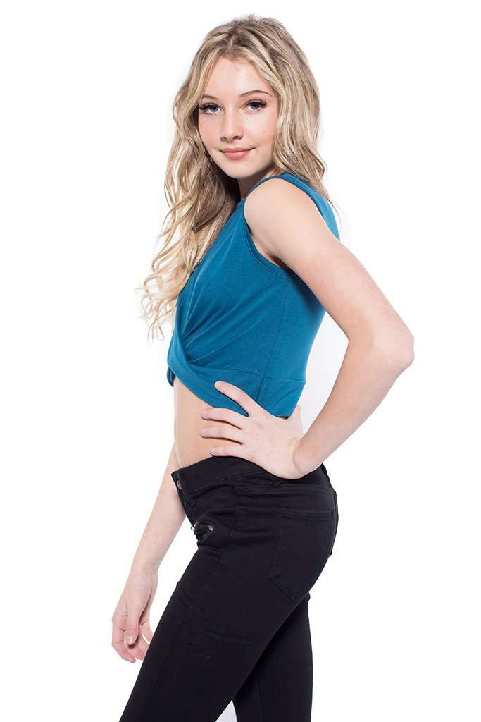 Donna Twisted Cropped Top - Top - Teen Girls Clothing fashion - Miss Behave Girls