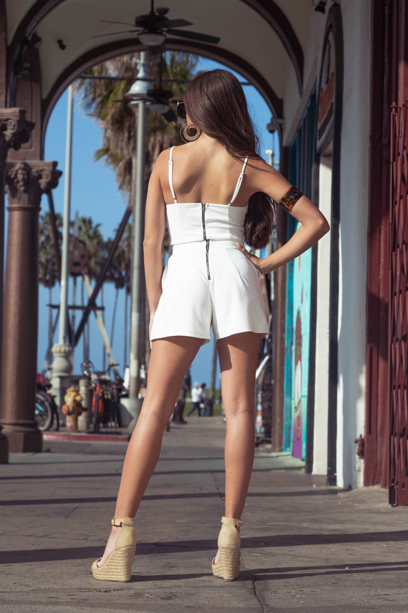 SANDY Bustier Cropped Top & Shorts Set